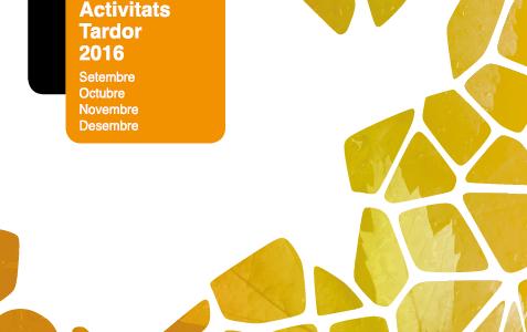 Nova programació d'activitats Tardor 2016