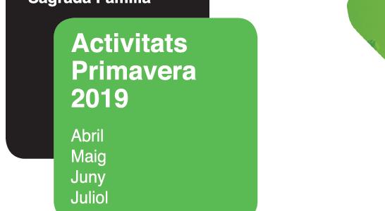 Nou Programa d'activitats Primavera 2019