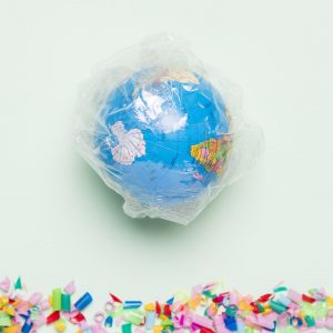top-view-globe-covered-in-plastic